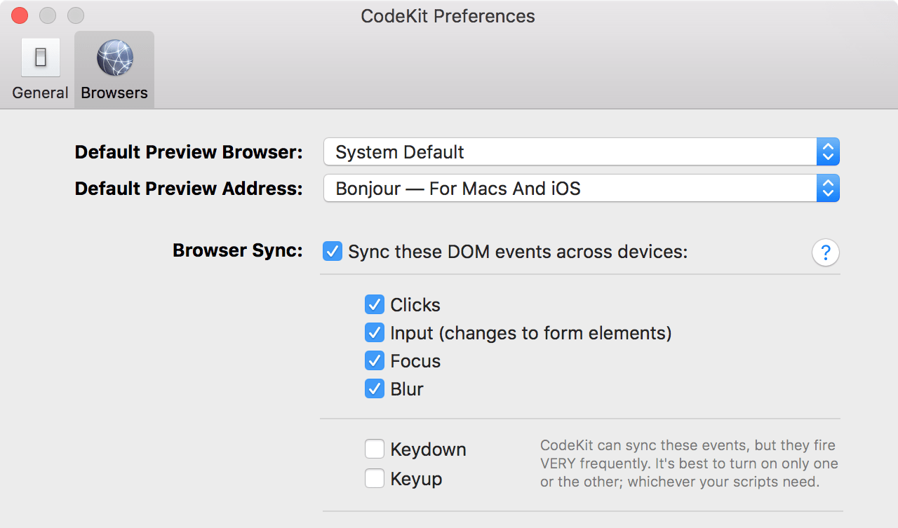 CodeKit - Browser Sync