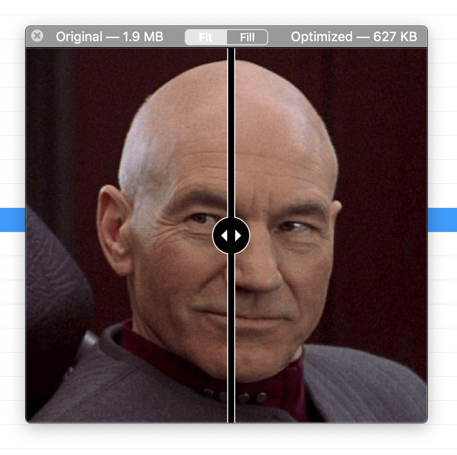 a screenshot of the image compare tool in CodeKit